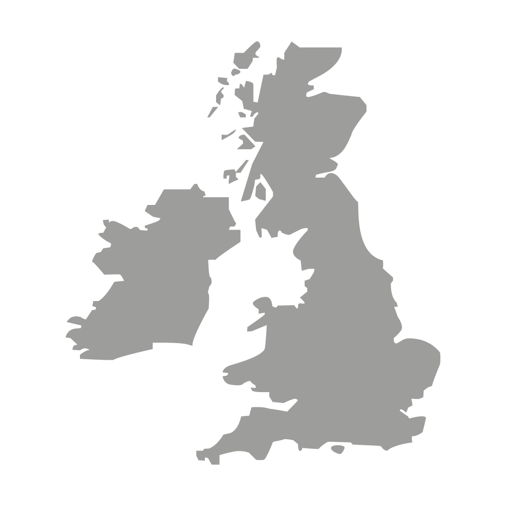 grey shape of the united kingdom
