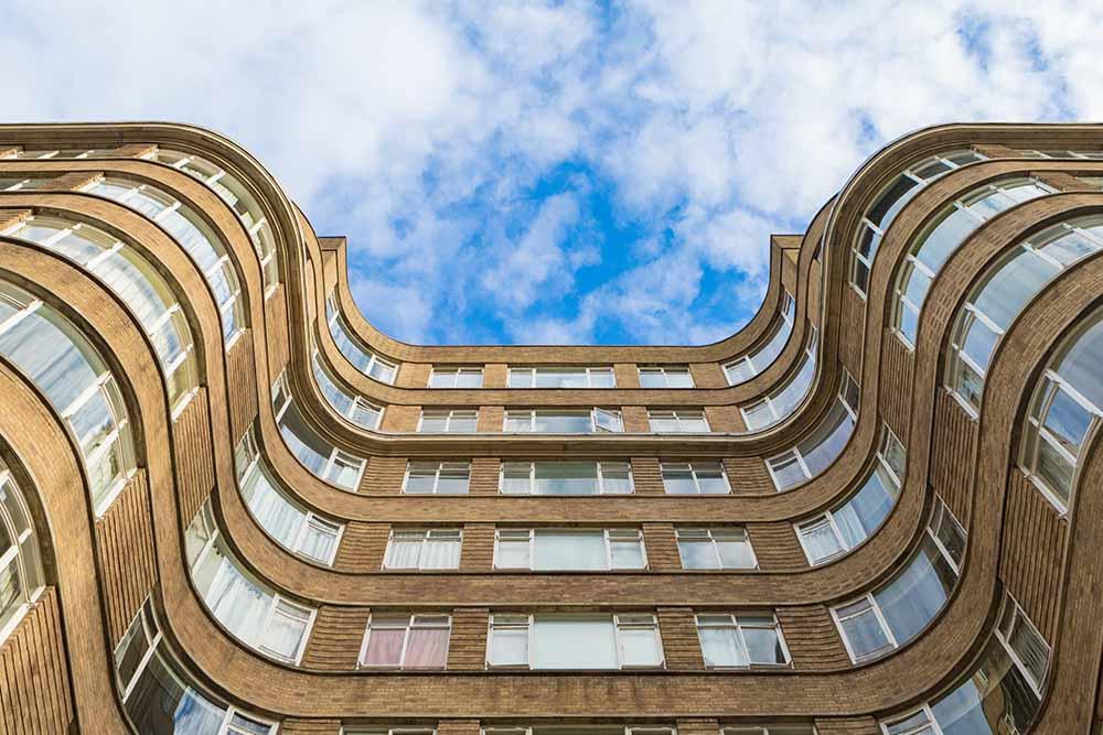 art deco building with specialist aluminium windows