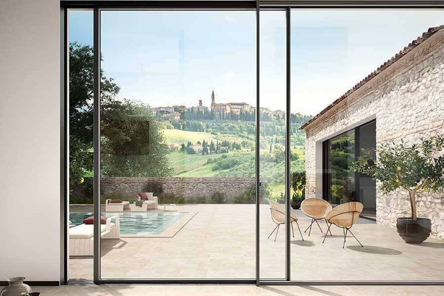 large sliding doors looking out to garden
