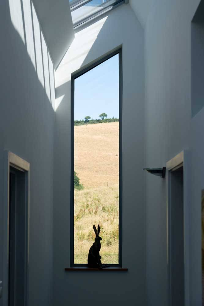 bespoke aluminium window with slanted tip