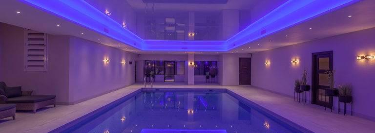 swimming pool with aluminium windows north devon